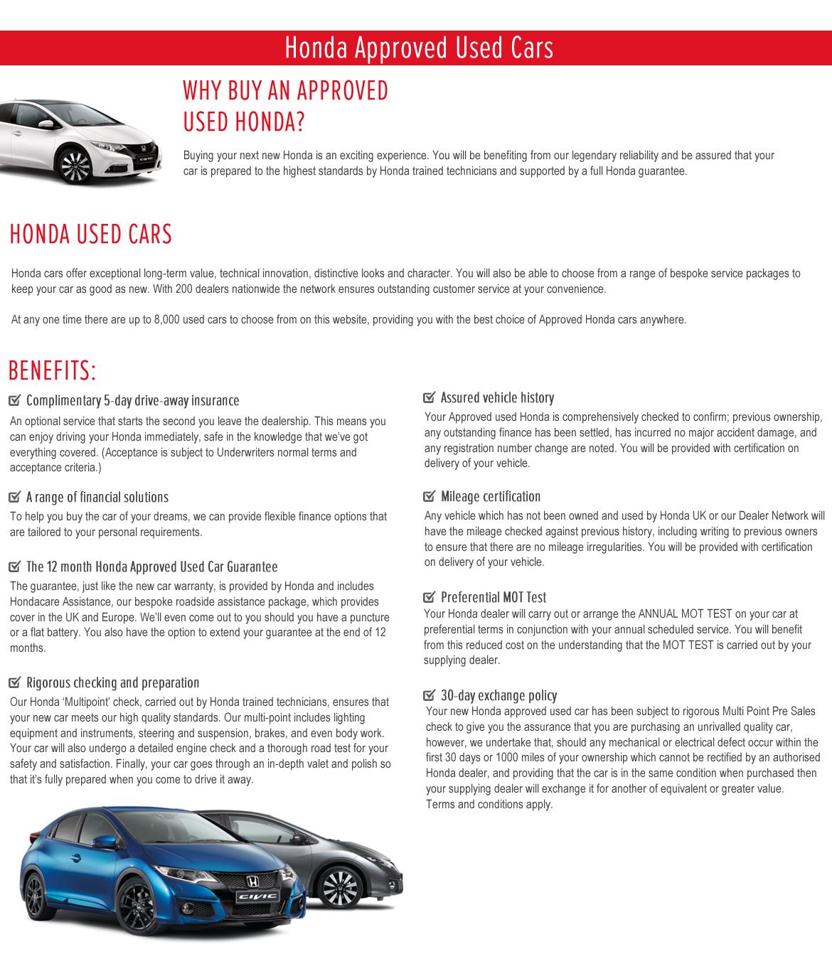 Bassetts Honda Used Cars Promotion